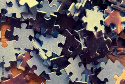 Fotografía  Pezzi di puzzle in tono vintage