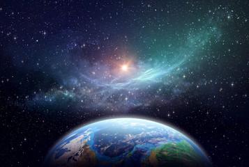 Fototapeta Exoplanet in deep space