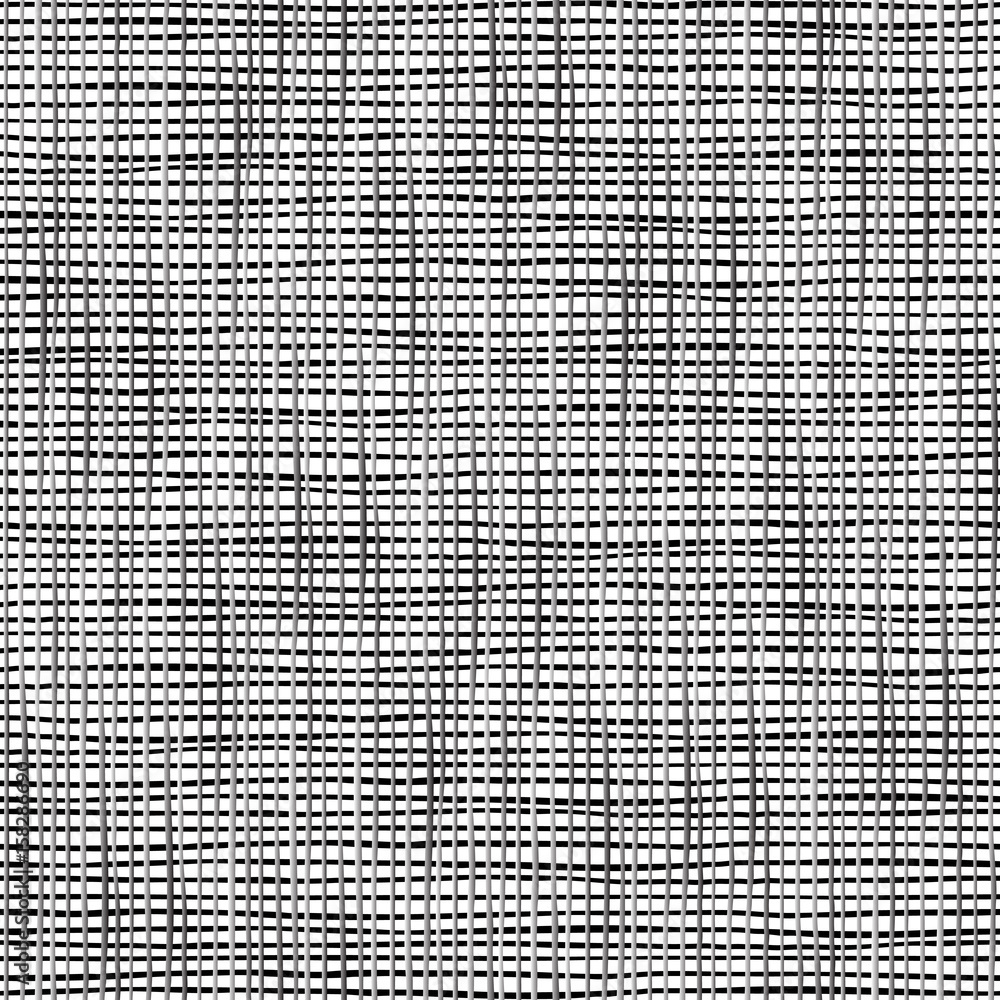 Fototapety, obrazy: Wicker texture in black and white color. Seamless vector illustration.