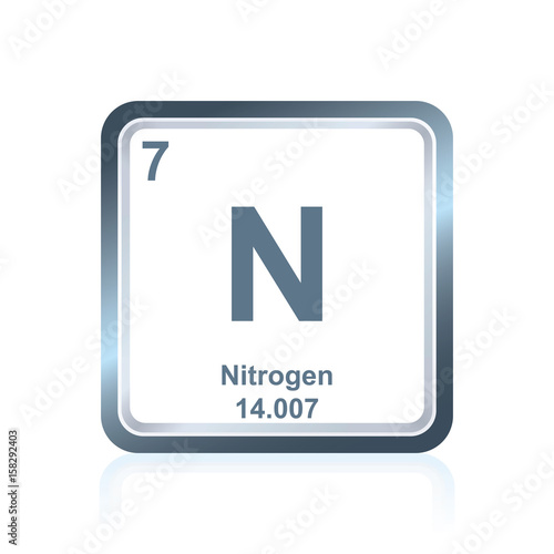 Symbol of chemical element nitrogen as seen on the periodic table of symbol of chemical element nitrogen as seen on the periodic table of the elements including urtaz Image collections
