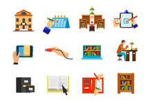 Self-education Icon Set