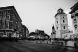 Warsaw, Poland. Night in the city center Palace square - 158295496