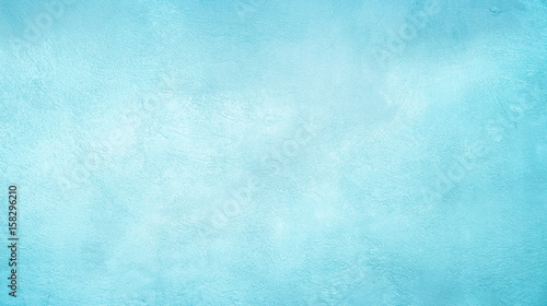 Abstract Grunge Decorative Light Blue Cyan Painted background - 158296210