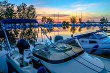 Motorboat In Marina