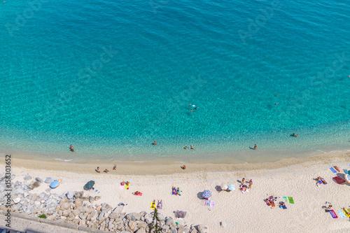 Fototapeta  Aerial view of Tropea beach - Tropea, Calabria, Italy