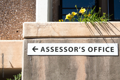 Assessor's office sign Canvas Print