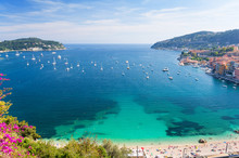 View Of Luxury Resort And Bay Of Cote D`Azur In France