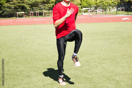 Fotografija Sprinter doing form drills