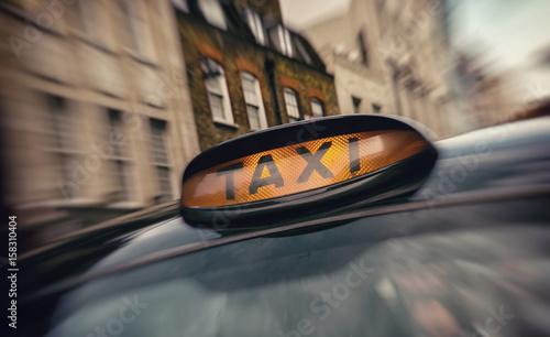 Zdjęcie XXL taksówka na ulicy londyńskiej