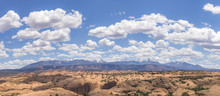 Clouds And Snow-capped Mountains In An Extra Large Panorama