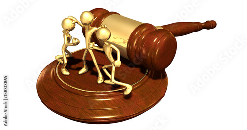 Mediator Law Concept With The Original 3D Characters Illustration Wallpaper Mural