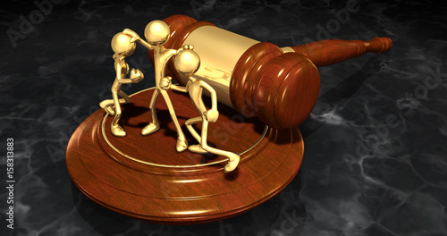 Mediator Law Concept With The Original 3D Characters Illustration Canvas Print