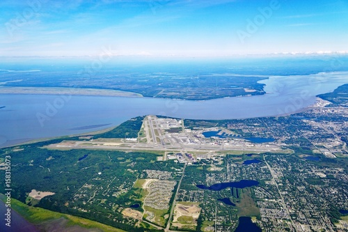 Aerial view of the Ted Stevens Anchorage International Airport (ANC) in Alaska Wallpaper Mural