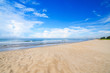 White sand and the blue sky. Rayong beach,Thailand.