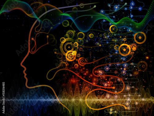 Foto op Aluminium Nacht snelweg Way of Machine Consciousness
