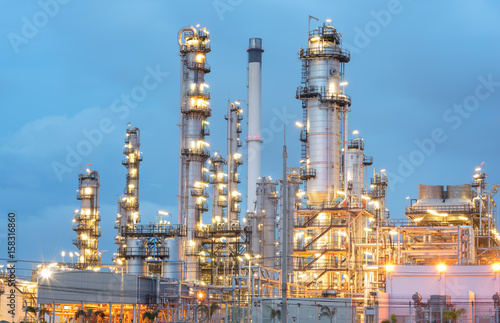 Aluminium Prints Industrial building Oil Refinery factory in the morning , petrochemical plant , Petroleum.