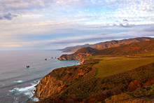 Bixby Bridge On Highway 1, View From Hurricane Point, Big Sur, California