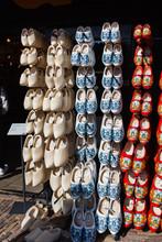 Clogs For Sale At A Dutch Shop
