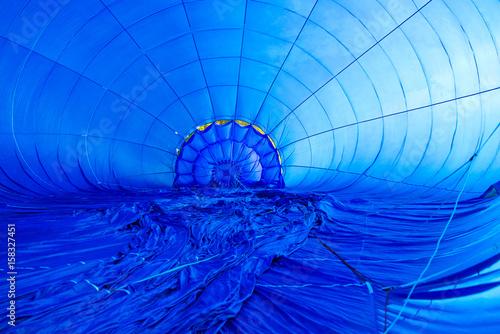 inside of a blue aerostat Canvas Print