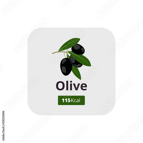 Black Olives Calories Ripe Black Olives With Green Leafs