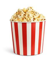 Popcorn In Cardboard Box Isola...