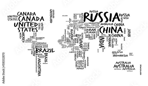 world-map-with-countries-name-text-or-typography-hand-drawn-sketch-style