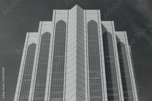 Black and white Dayabumi Complex building in the morning in Kuala Lumpur, Malaysia Poster
