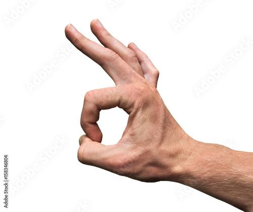 OK Hand Gesture 666 Canvas Print