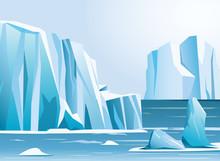 Vector Illustration Arctic Lan...
