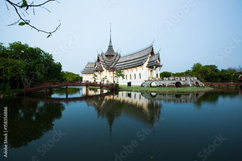 Photo Stands Bangkok Sanphet Prasat Palace, Ancient City, Bangkok Thailand