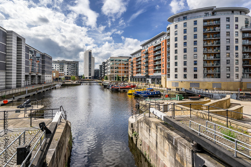 Photo Leeds Dock formerly Clarence Dock in central Leeds west Yorkshire