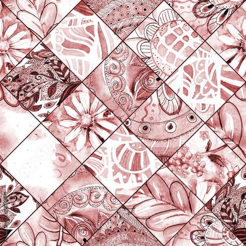 Naklejka na kafelki Kwiecista tekstura w jednym kolorze