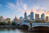 Fototapeta City - Melbourne city skyline at twilight