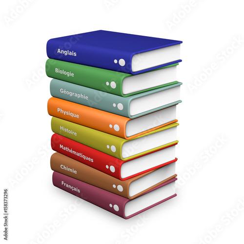Livres De Cours Acheter Cette Illustration Libre De Droit
