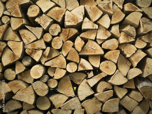 Fotobehang Brandhout textuur Firewood texture