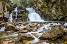 Waterfall Skalnik In Szczawnic...