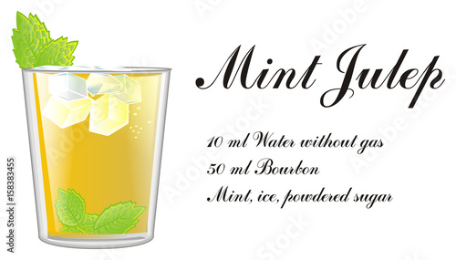 Valokuva  Mint, julep, yellow, alcohol, glass, cocktail, cartoon, summer, cold, color, min