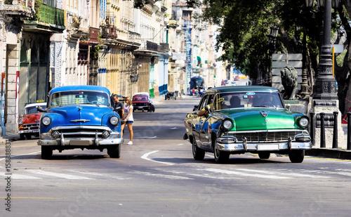Kuba - Havanna - am Parque Central Wallpaper Mural