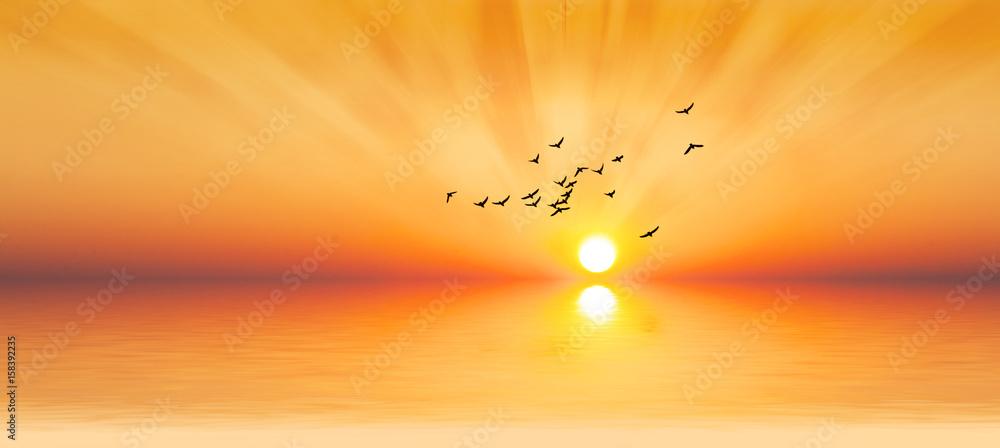 Fototapety, obrazy: amanecer dorado