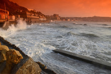 Scarborough At High Tide