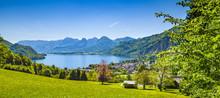 View Over St. Gilgen Am Wolfgangsee, Salzburg, Austria