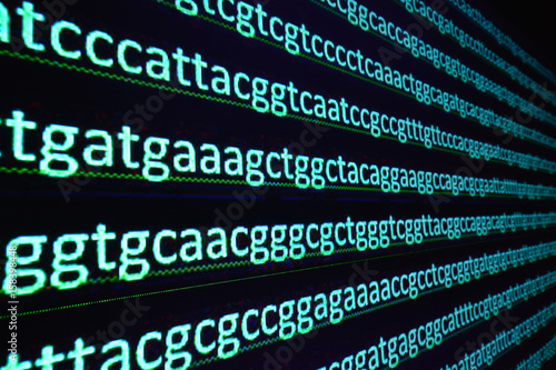 Sequencing the gene. Wallpaper Mural