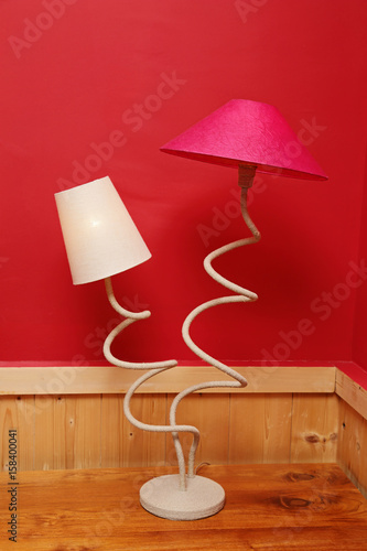 Lampe A Poser Double Originale Buy This Stock Photo And Explore