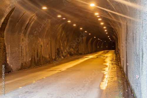 Tunnel on the road Banos - Puyo, Ecuador