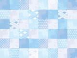 チェック カラフル パターン 水色 - 158414664