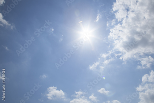 Fotografiet sunny sky background