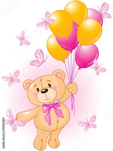 Poster Magie Girl Teddy Bear