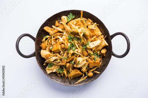 Fotografía  Kathal ki Sukhi Sabzi or jackfruit vegetable recipe of fanas chi bhaji or phanas