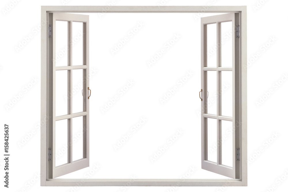 Fototapety, obrazy: Open window with blue sky