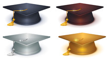 Silver, Gold And Black Mortarboard
